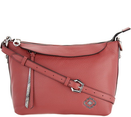 """As Is"" orYANY Pebble Leather Larissa Crossbody"