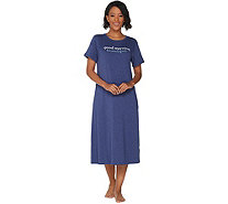 AnyBody Loungewear Petite Cozy Knit Message Sleep Shirt - A302309