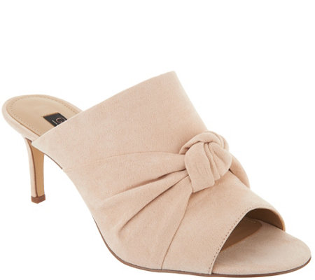 G.I.L.I. Knotted Front Open Toe Mules - Kadie