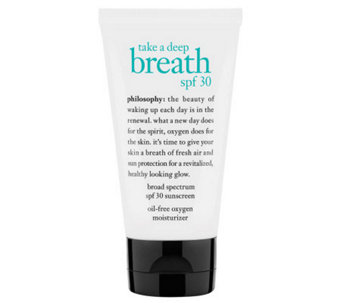 philosophy take a deep breath oil-free spf 30 moisturizer - A329609