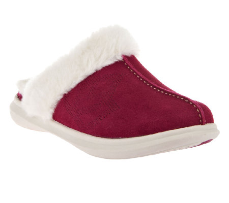 Spenco Supreme Slide Orthotic Suede Slippers