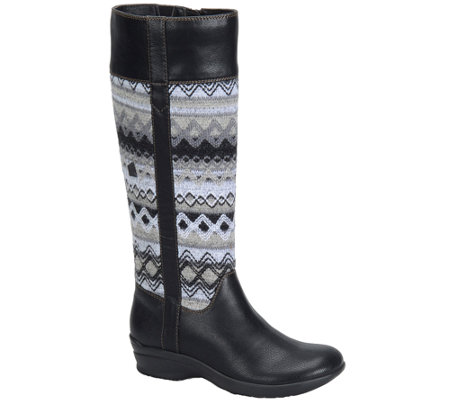 Softspots Tall Riding Boots with Knit Accents -Jersey