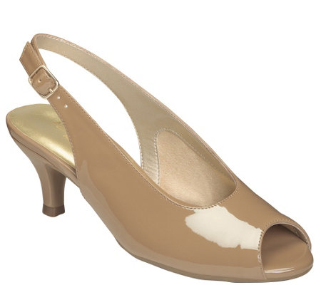 Aerosoles Heel Rest Kitten Heel Slingback Pumps- Escapade