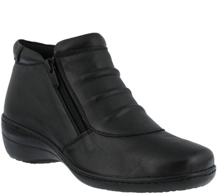 Spring Step Leather Booties - Briony