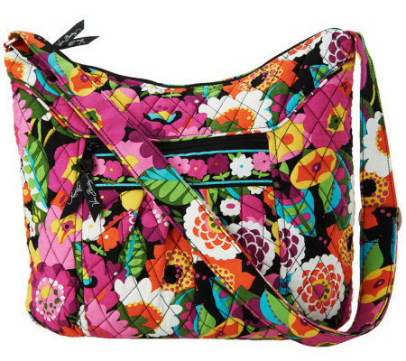 Vera Bradley Signature Print Zip Top Convertible Hobo