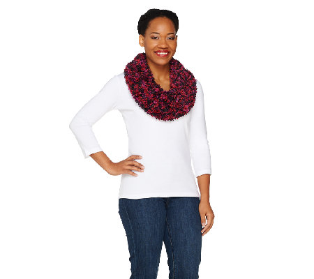Spacedye Mini Boucle Infinity Scarf by Sure Couture