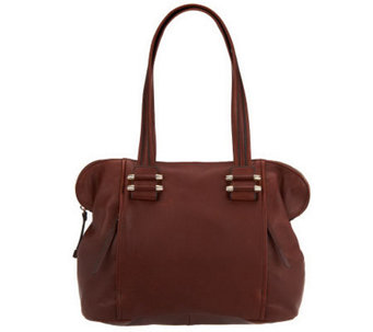 B. Makowsky Zip Top Satchel with Front Zipper Pockets - A229010