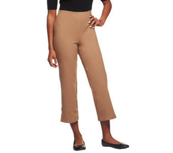 Women with Control Hollywood Waist Crop Pants with Tab Detail - A233110
