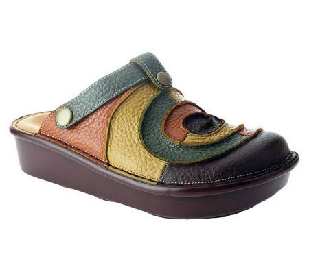 Spring Step Lollipop Leather Clogs