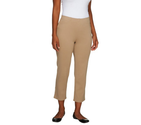 Liz Claiborne New York Regular Pull-On Ponte Knit Crop Pants