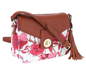 Isaac Mizrahi Live! Bridgehampton Printed Canvas Crossbody Bag - A253910