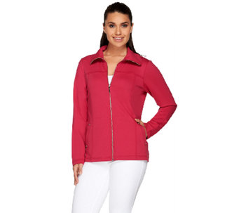 Denim & Co. Active French Terry Zip Front Jacket - A254810