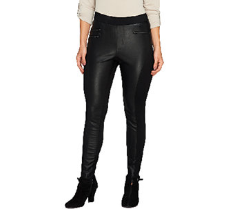 Nicole Richie Collection Faux Leather Motorcycle Legging - A257610
