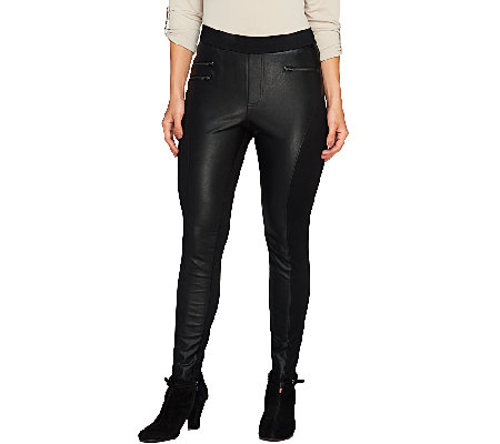 Nicole Richie Collection Faux Leather Motorcycle Legging