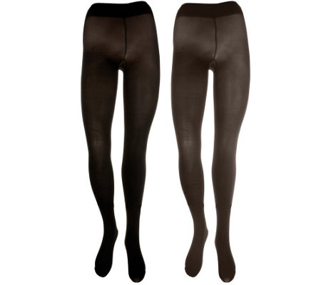 Legacy Set of 2 Colorblock Opaque Tights