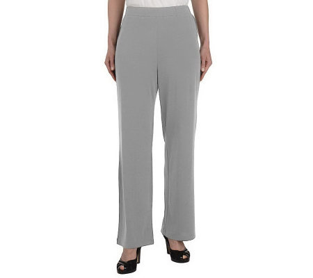 """As Is"" George Simonton Crystal Knit Pull-on Knit Pants"
