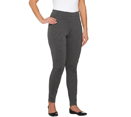 Lisa Rinna Collection Pull-On Ponte Knit Leggings