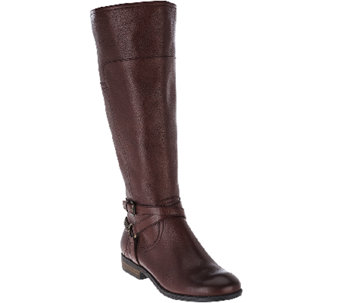 Marc Fisher Leather Wide Calf Boots Alexis A268110