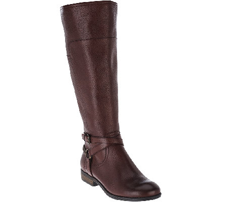 Marc Fisher Leather Wide Calf Boots - Alexis