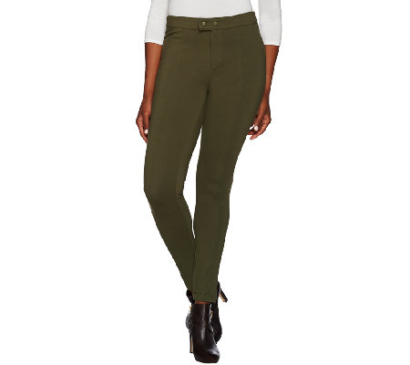 G.I.L.I. Milano Ponte Slim Leg Pants with Seam Detail