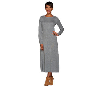H by Halston Silk-Cashmere Blend Midi Sweater Dress - A269410