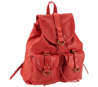"""As Is"" Joelle Hawkens by Treesje Leather Rachel Backpack - A269710"
