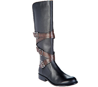 G.I.L.I Leather Tall Shaft Boots - Rivine - A269810