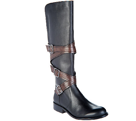 G.I.L.I Leather Tall Shaft Boots - Rivine
