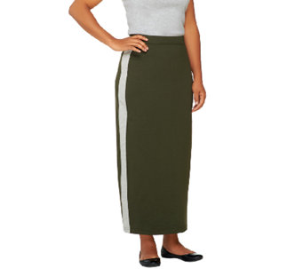"""As Is"" Denim & Co. Active French Terry Color-Block Skirt - A270710"