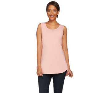 Kathleen Kirkwood Shirt Tail Hem Knit Tank Top - A271910