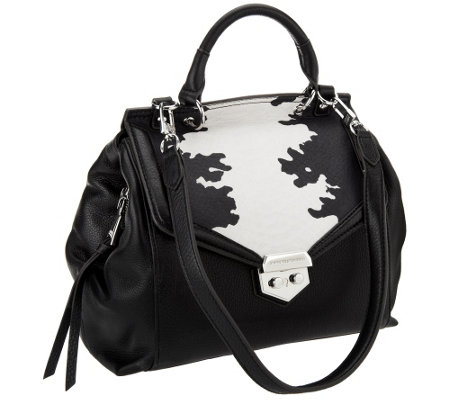 """As Is"" Aimee Kestenberg Pebble Leather Satchel - Emma"