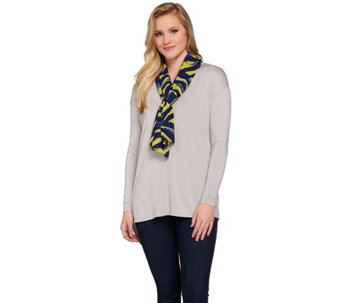 Susan Graver Printed Feather Weave Oblong Scarf - A273510