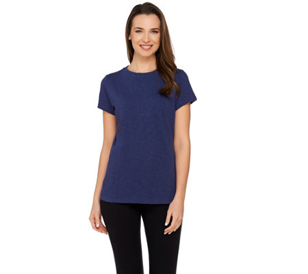 Isaac Mizrahi Live! TRUE DENIM Slub Knit T-shirt