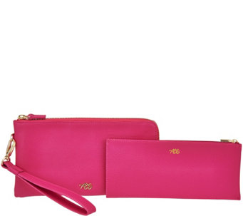 Always Be Secure Slim Leather RFID Wristlet with Pouch - A278510
