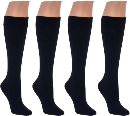 """As Is"" Legacy Graduated Compression Trouser Socks Set of 4"