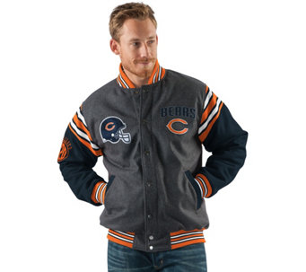 NFL Team Color Reversible Wool Blend Jacket - A280710