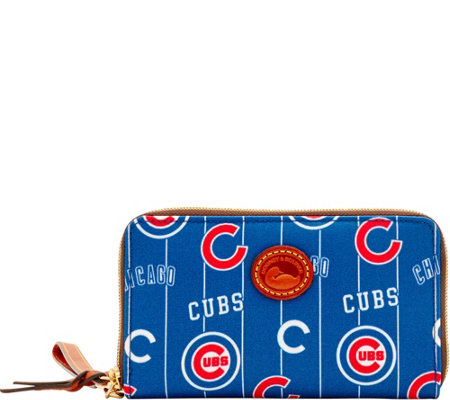 Dooney & Bourke MLB Nylon Cubs Zip Around Phone Wristlet