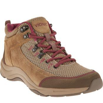Vionic Orthotic Water Resistant Hiking Sneakers - Cypress