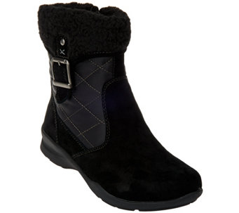 Earth Quilted Leather Boots with Faux Fur Lining - Pinnacle - A284110