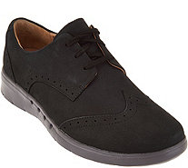 Clarks UnStructured Nubuck Leather Lace-up Shoes - Un.Hinton - A284610