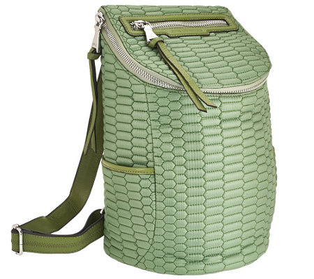 """As Is"" Aimee Kestenberg Nylon Quilted Backpack - Jasame"