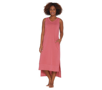 AnyBody Loungewear Cozy Knit Petite Maxi Tank Dress - A286610