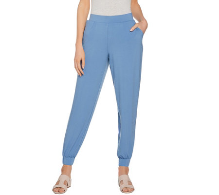 H by Halston Petite Jet Set Jersey Knit Jogger Pants