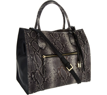 G.I.L.I. Italian Leather Exotic Winged Tote