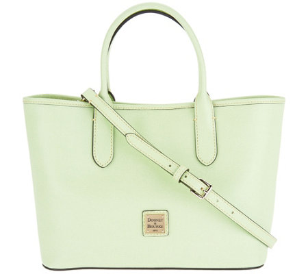 Dooney & Bourke Saffiano Leather Satchel Handbag -Brielle