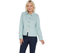 Isaac Mizrahi Live! TRUE DENIM Colored Jean Jacket - A303210