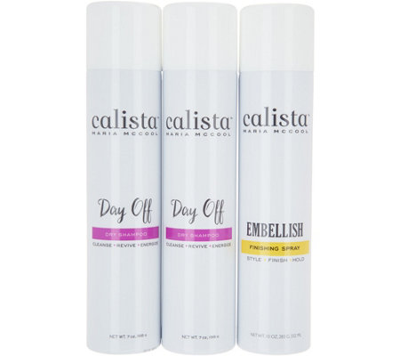 Calista 3-Piece Day Off Dry Shampoo Duo with Embellish Volume Spray
