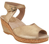 Dansko Leather or Suede Wedge Sandals - Charlotte - A303510