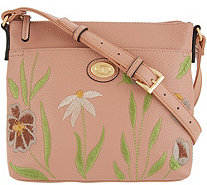 Tignanello Embroidered Leather Crossbody Bag - Madison - A308710