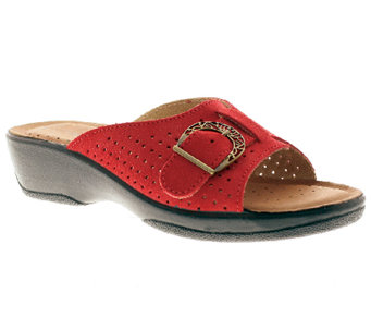 Flexus by Spring Step Edella Leather Slide Sandals - A332010